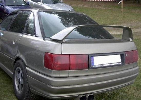 audi 80 b3 rear boot spoiler evo look tuning gt. Black Bedroom Furniture Sets. Home Design Ideas