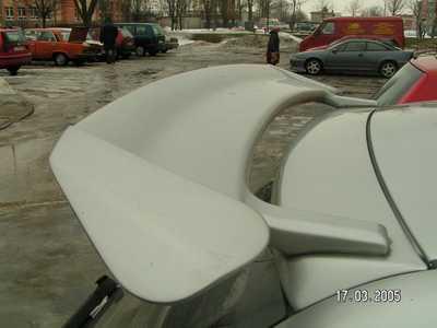 renault megane 2 ii rear roof spoiler tuning gt ebay. Black Bedroom Furniture Sets. Home Design Ideas