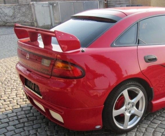 mazda 323 323f ba rear boot spoiler tuning gt ebay. Black Bedroom Furniture Sets. Home Design Ideas