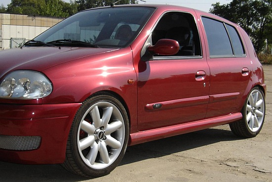renault clio 2 ii side skirts sport tuning gt ebay. Black Bedroom Furniture Sets. Home Design Ideas
