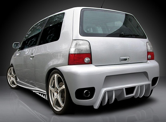 vw lupo rear bumper tuning gt ebay. Black Bedroom Furniture Sets. Home Design Ideas