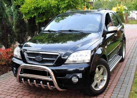 kia sorento 02 09 front bull bar nudge a bar tuning gt ebay. Black Bedroom Furniture Sets. Home Design Ideas