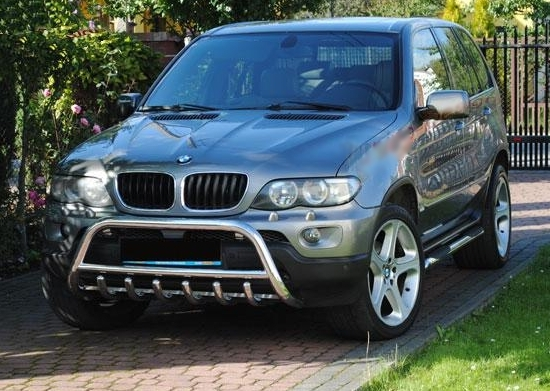 bmw x5 e53 bull bar nudge a bar tuning gt ebay. Black Bedroom Furniture Sets. Home Design Ideas